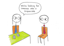 Job interview cartoon, interview